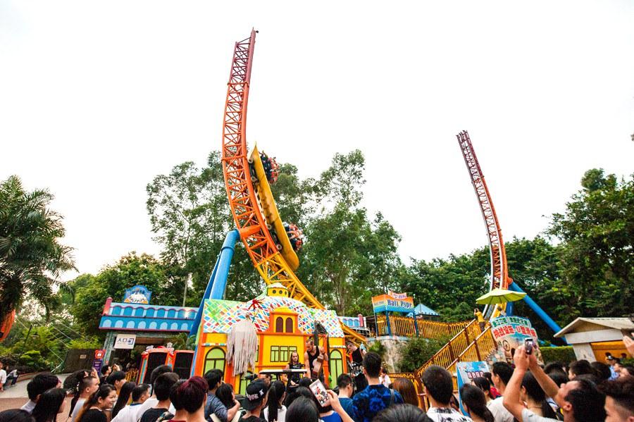广州 广州长隆欢乐世界门票  旋风岛,来一场与风的追逐  u型滑板