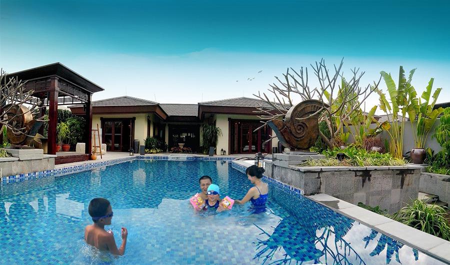 欧式庭院泳池水景